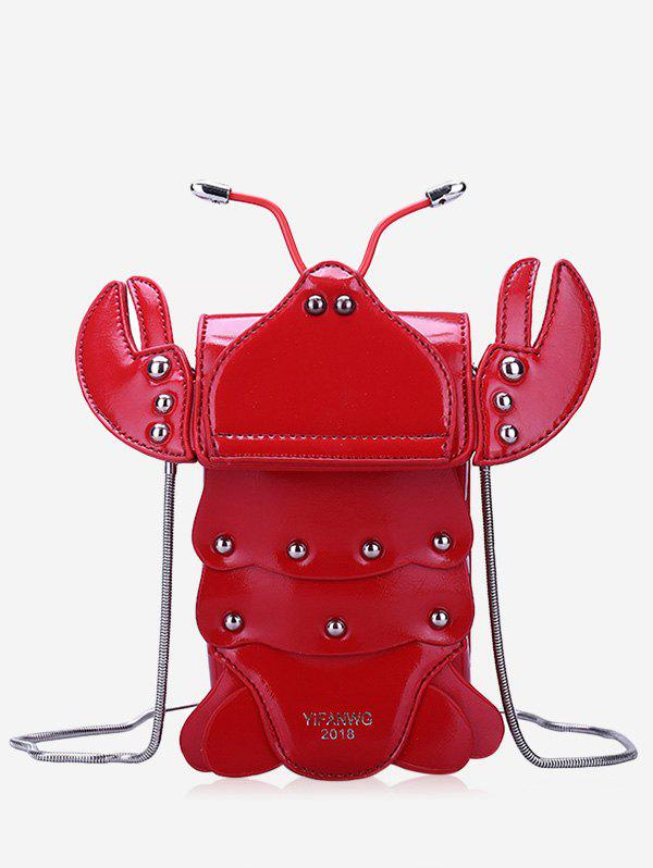 New Flap Studded Chic Cray Shaped Crossbody Bag