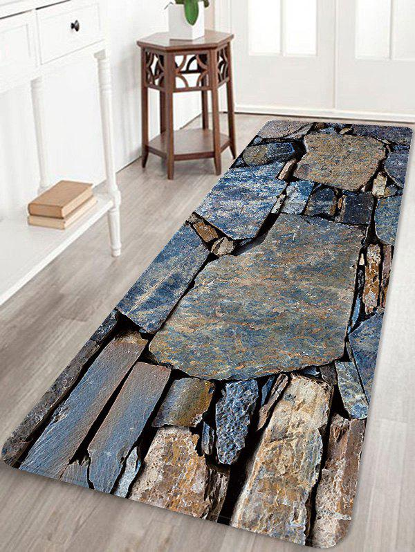 Affordable Retro Stone Wall Pattern Anti-skid Water Absorption Area Rug