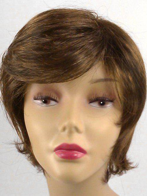 Shop Short Oblique Bang Straight Synthetic Wig