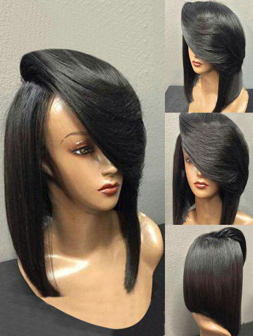 Discount Short Oblique Bang Straight Heat-resistant Synthetic Wig
