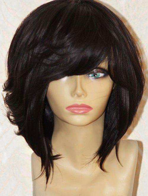 Cheap Short Side Fringe Straight Heat Resistant Synthetic Wig
