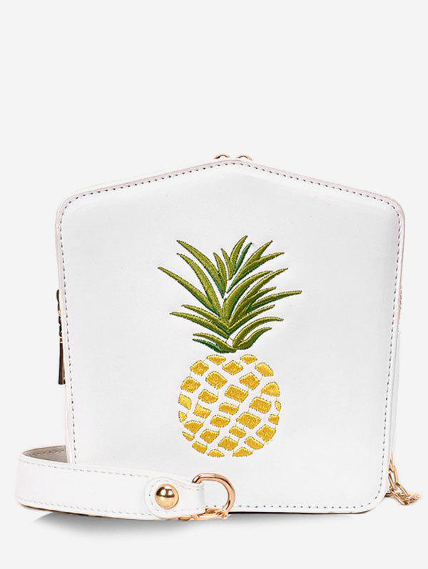 Online Pineapple Embroidery Chain Crossbody Bag