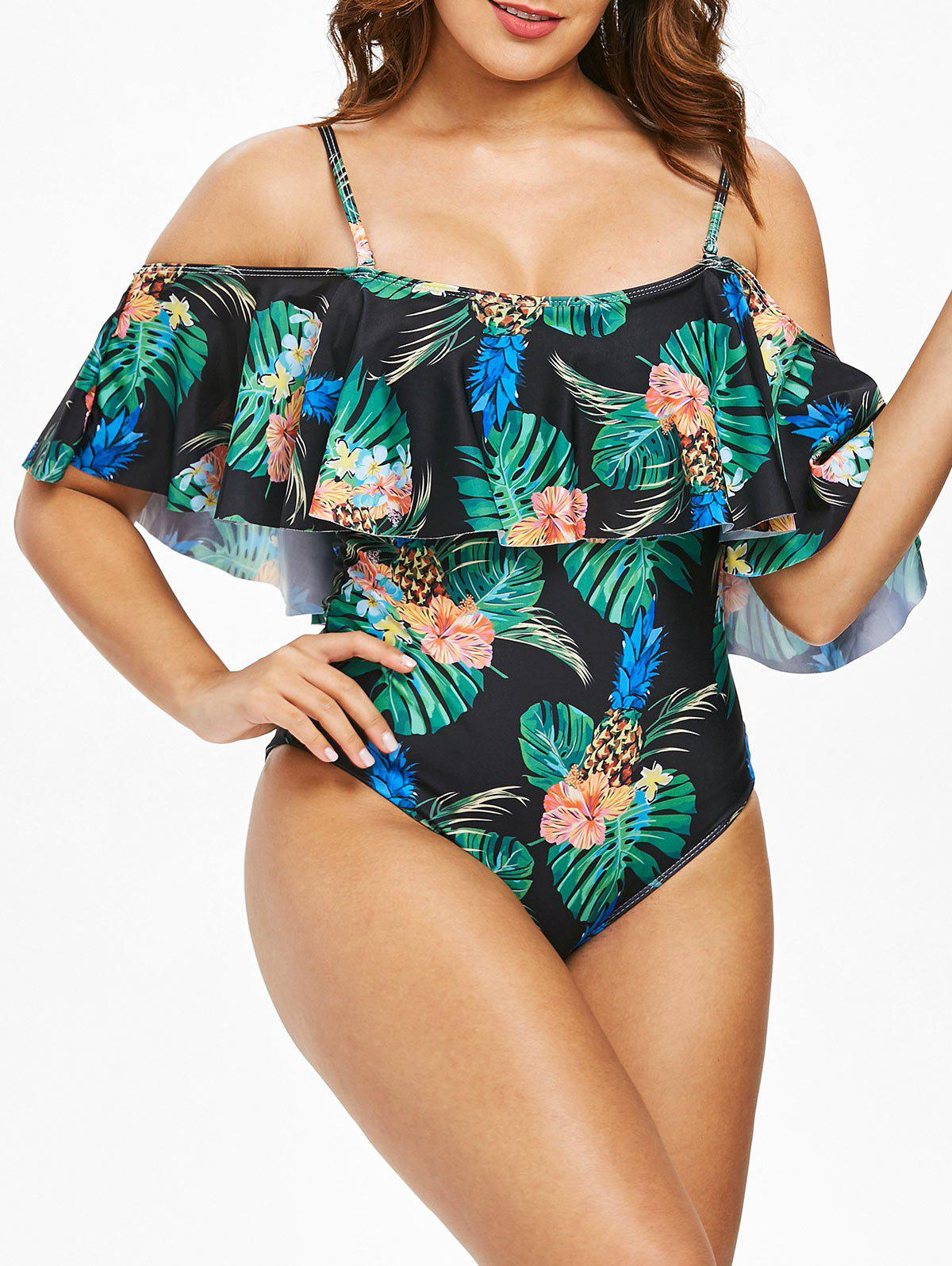 Shop Pineapple Cami Flounce Swimsuit
