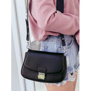Flap Color Blocking Faux Leather Chic Crossbody Bag -