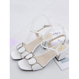 Leisure Prom Block Heel Slingback Sandals -