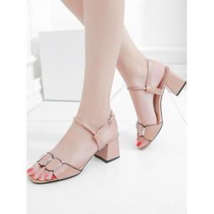 Really Cheap Price Shop For For Sale Leisure Prom Block Heel Slingback Sandals - APRICOT Buy Cheap With Credit Card GiqL73e