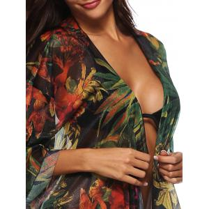 See Through Floral Print Cover Up -