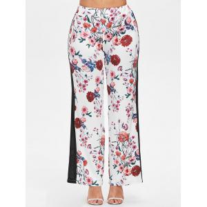 Floral Print Straight Pants -