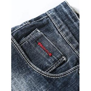 Torned Zigzag Stitching Nine Minutes of Jeans -