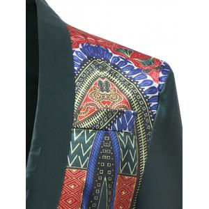 Blazer Dashiki d'Africain Simple Bouton Design -