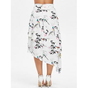 Oiseaux Imprimer Layered High Low Jupe -
