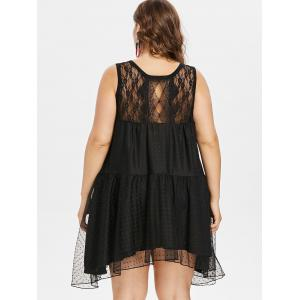 Back Cut Out Plus Size Lace Dress -