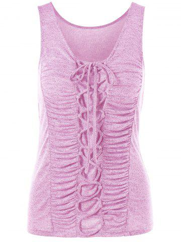 Best Criss Cross Ruched Tank Top