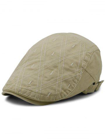 Outfits Rhombus Embroidery Adjustable Jeff Hat