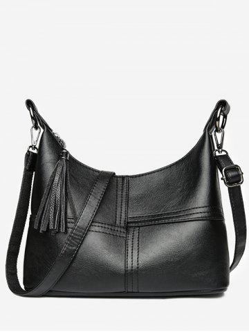 Latest High Capacity Tassel Closure PU Shoulder Bag