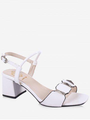 Discount Leisure Prom Block Heel Slingback Sandals