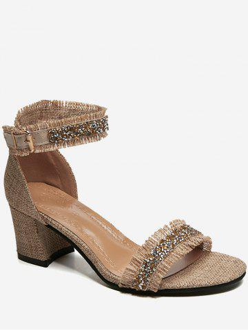 Discount Faux Crystal Detail High Heels