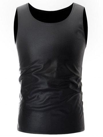 Cheap Metallic Shiny Solid Color Tank Top