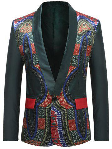 Blazer Dashiki d'Africain Simple Bouton Design
