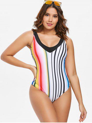 Stripe One-piece Swimwear