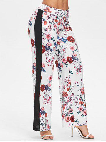 Floral Print Straight Pants