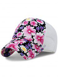 Chrysanthemum Pattern Decorative Mesh Baseball Cap -