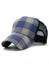Plaid Pattern Decorative Mesh Hunting Hat -