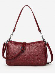 PU Embossing Crossbody Bag -
