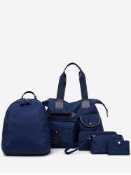 5 Pieces Large Capacity Vacation Shoulder Bag Set -