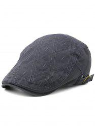 Rhombus Embroidery Adjustable Jeff Hat -