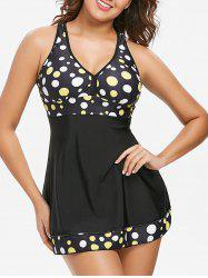 Polka Dot Empire Waist Tankini -