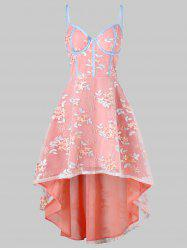 Embroidery High Low Flare Dress -
