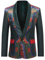 African Dashiki Single Button Design Blazer -