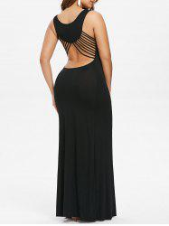 Cut Out Strappy Long Party Dress -