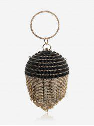 Sphere Crystal Detail Party Hand Bag -