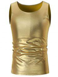 Metallic Shiny Solid Color Tank Top -
