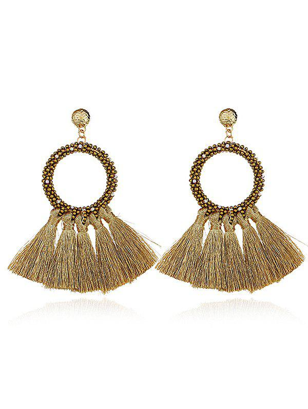 Outfits Boho Style Round Fringe Dangle Earrings
