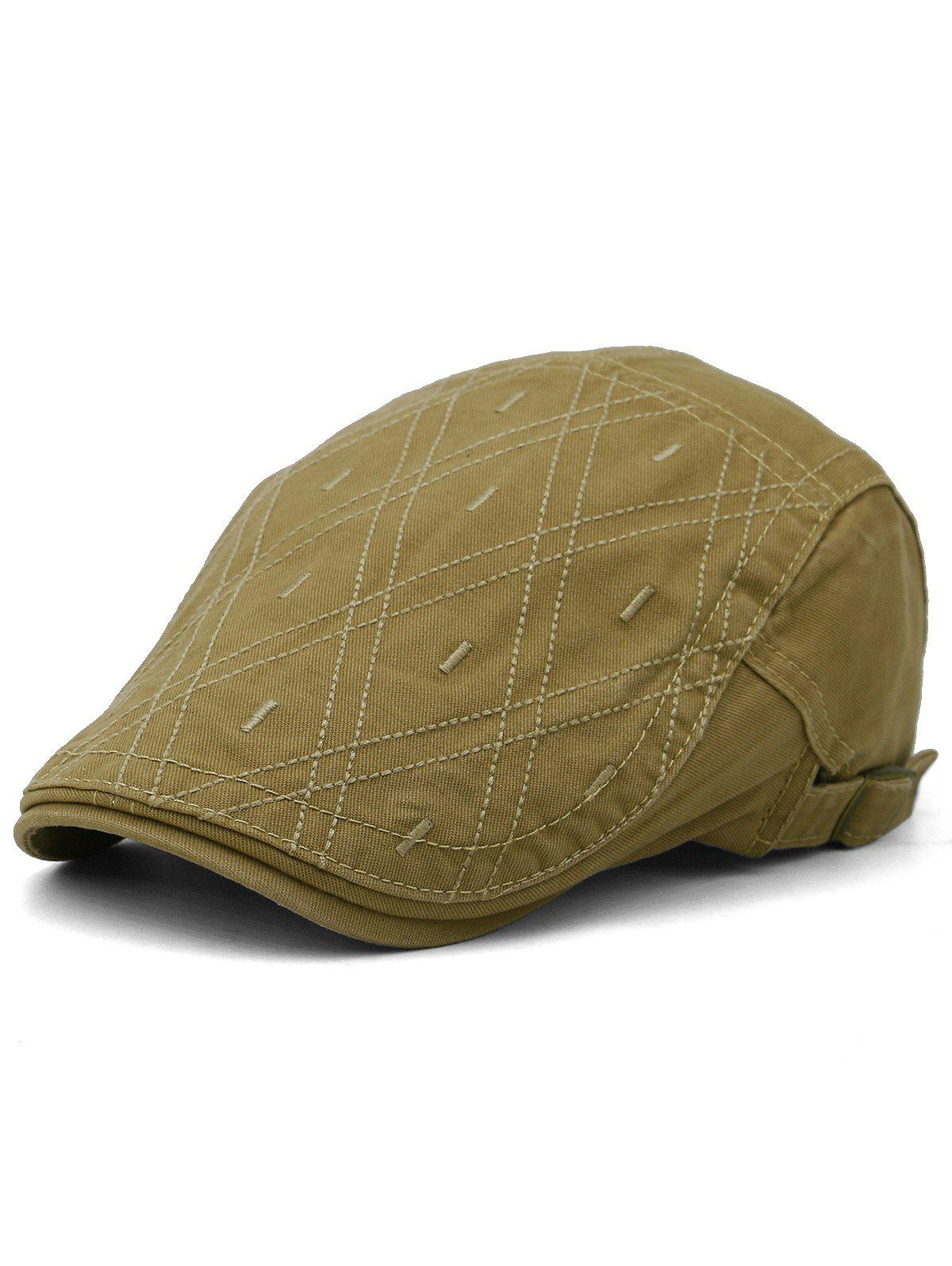 New Rhombus Embroidery Adjustable Jeff Hat