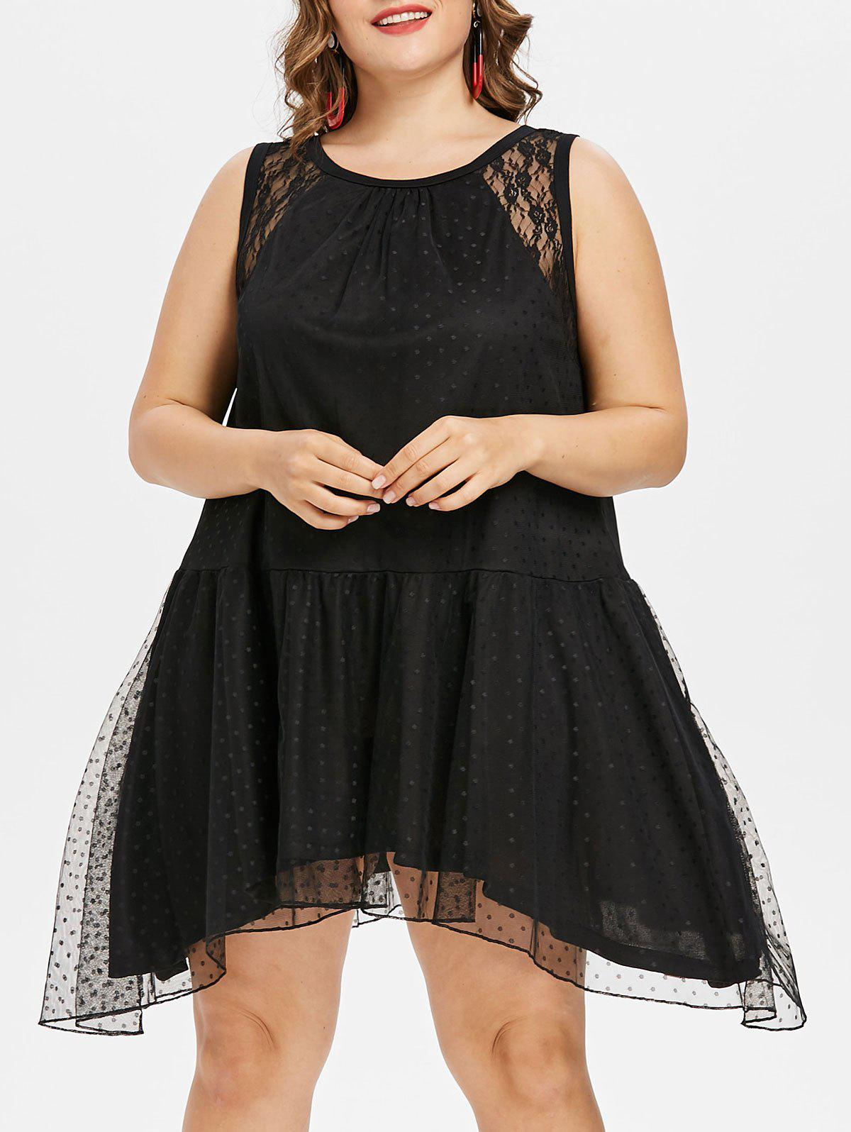 Latest Back Cut Out Plus Size Lace Dress
