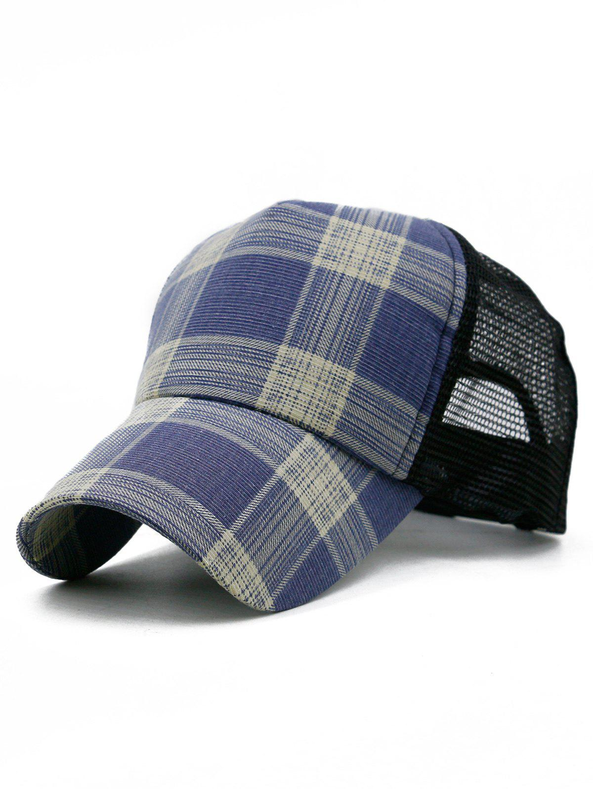 Fancy Plaid Pattern Decorative Mesh Hunting Hat