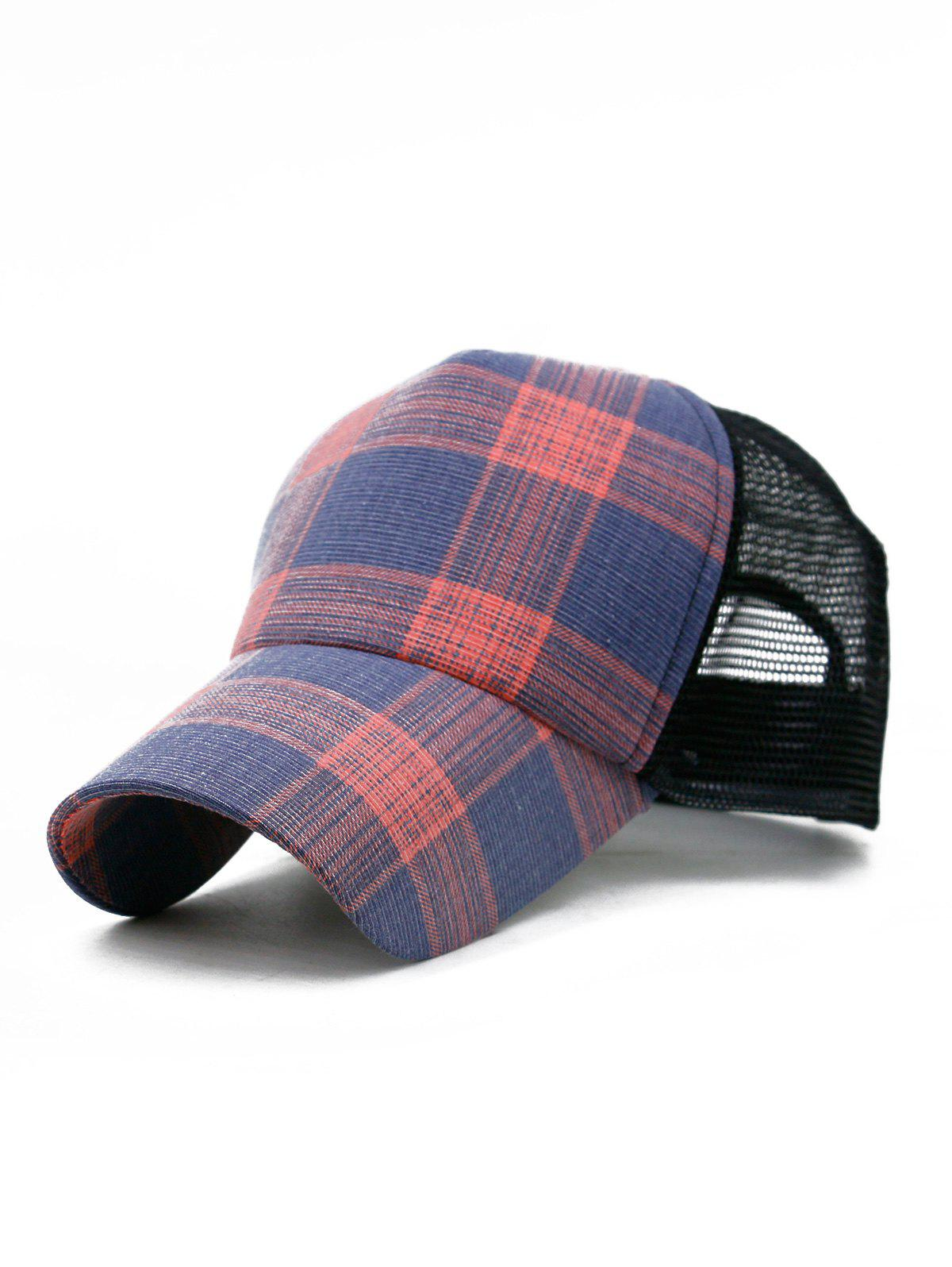Outfits Plaid Pattern Decorative Mesh Hunting Hat