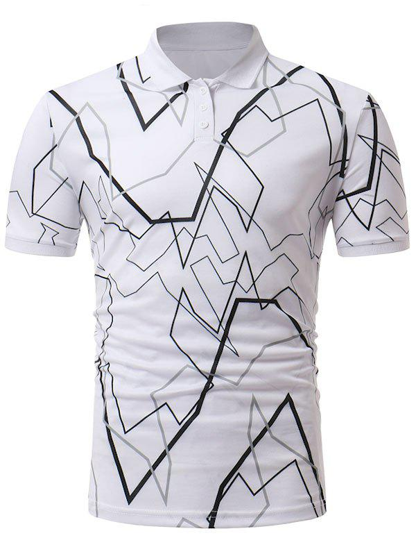 e077128b5fb6a Outfit Short Sleeve Abstract Line Print T-shirt