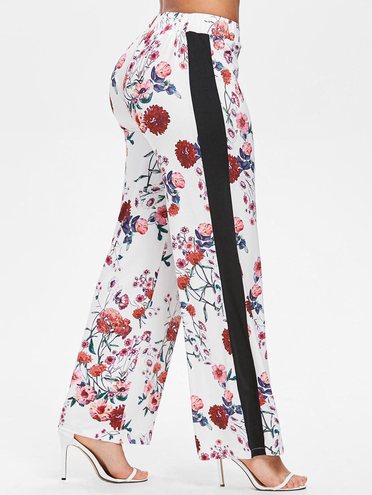 Fashion Floral Print Straight Pants