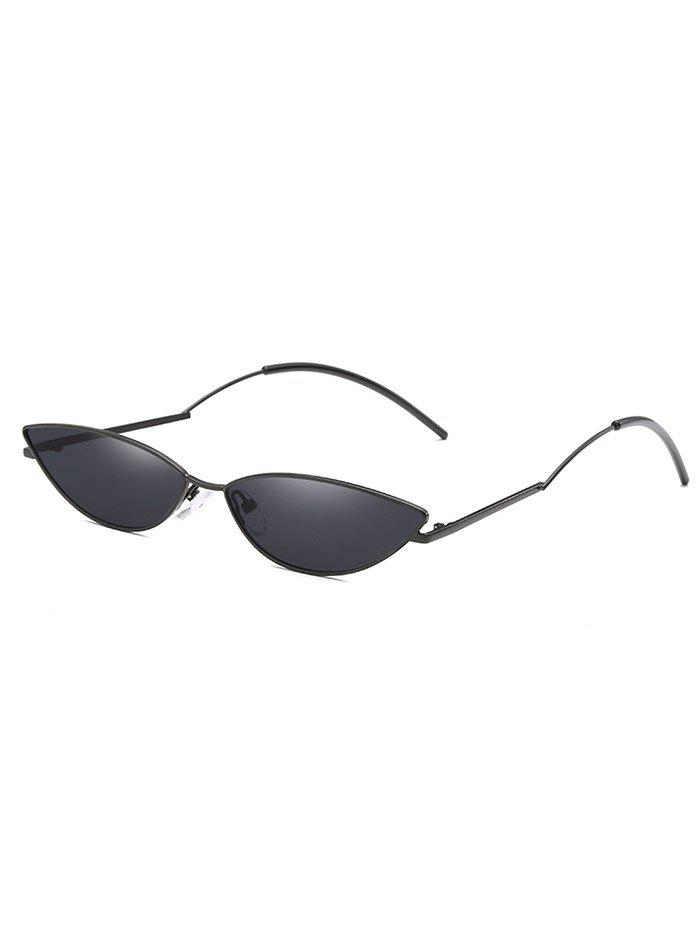 Affordable Metal Full Frame Clear Lens Catty Sunglasses