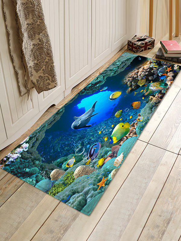 Hot Beautiful Ocean World Print Non Slip Floor Rug