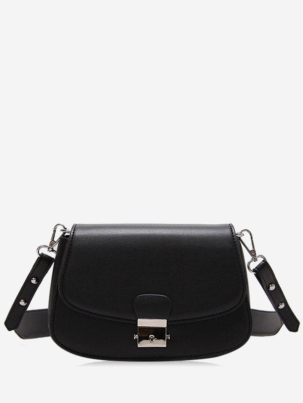 Fancy Flap Color Blocking Faux Leather Chic Crossbody Bag