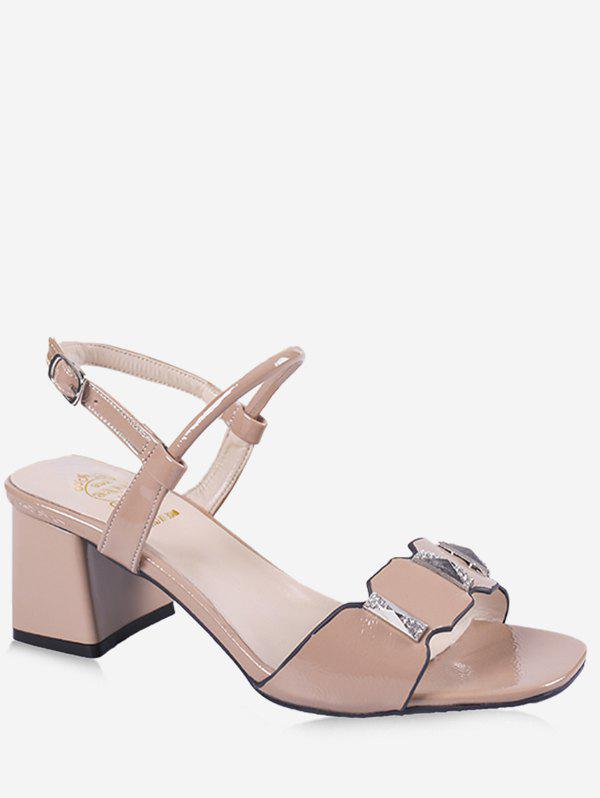 Chic Leisure Prom Block Heel Slingback Sandals