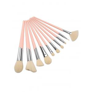 Professional 10Pcs Ultra Soft Fiber Hair Travel Cosmetic Brush Kit -