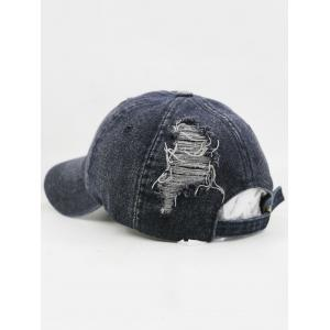 Outdoor Solid Color Washed Dyed Denim Baseball Hat -