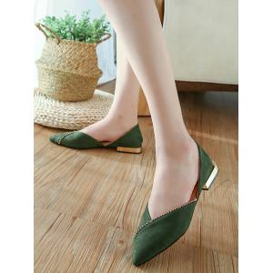 Pointed Toe Slip On Flat Heel Shoes -